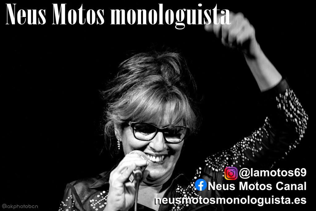 Neus Motos en su monólogo de Súbete a la Motos si te atreves